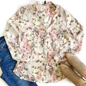 Kut from the Kloth   Floral Button Down Blouse